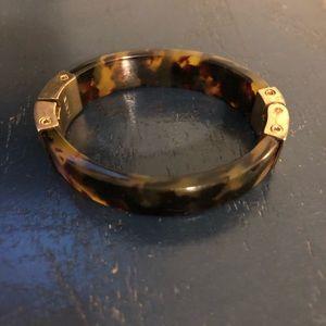 J.Crew tortoiseshell acrylic bracelet with gold